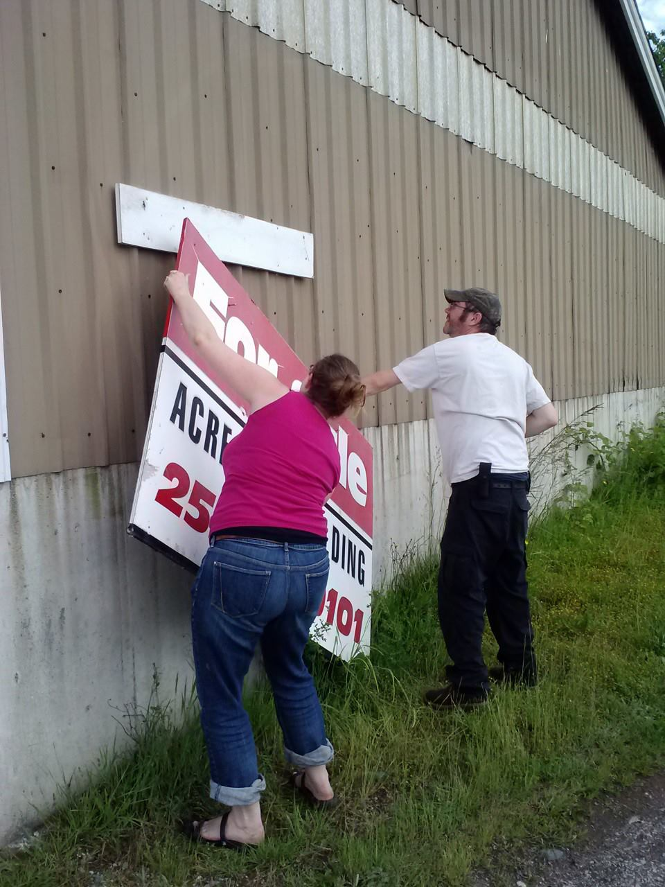 Taking down the for sale sign